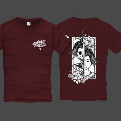 Geisha Men T-Shirt Back Print